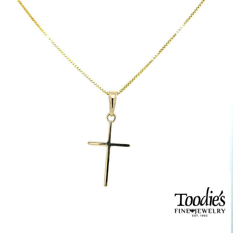 Toodie's Signature Fashion Small Gold Cross and Chain