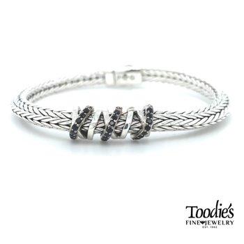 Woven Black Sapphire Bracelet