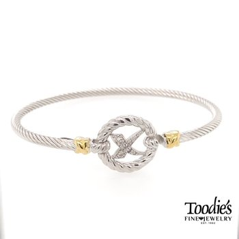 "Italian Cable Diamond ""X"" Bracelet"