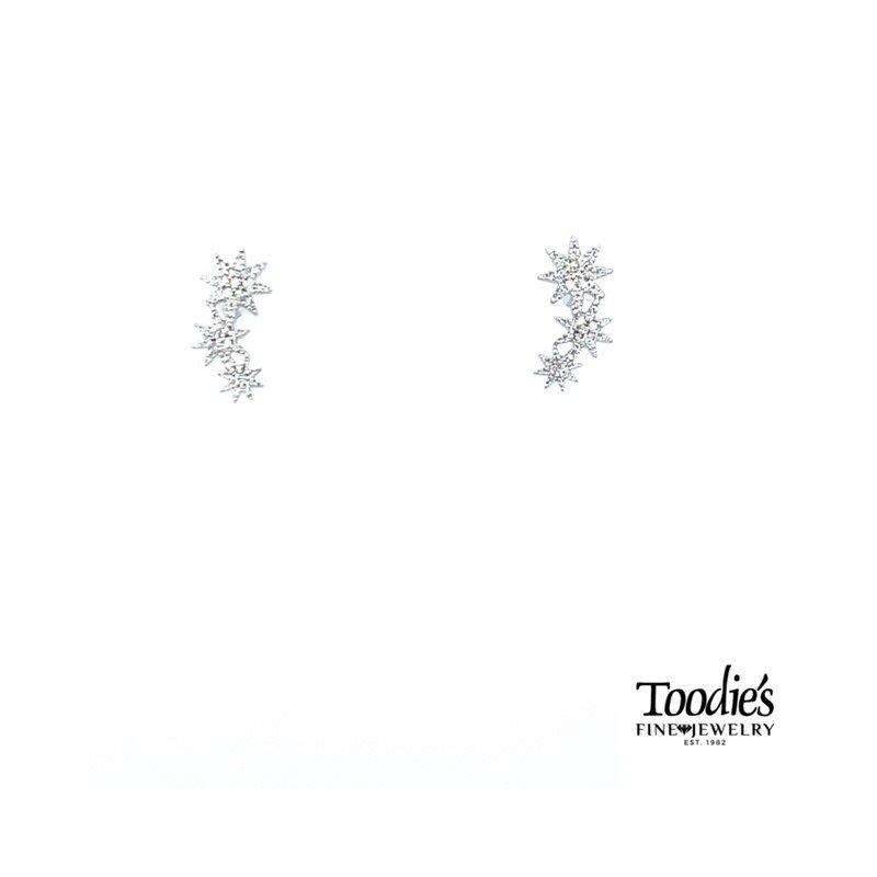 Shy Creation Triple Star Studded Earrings