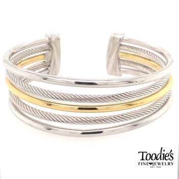 Multi-Row Rope And Bar Bracelet