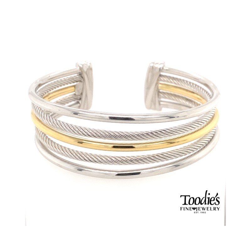 Phillip Gavriel Multi-Row Rope And Bar Bracelet