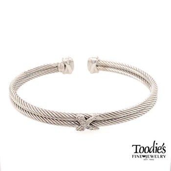 Double Row Rope Cuff Bracelet