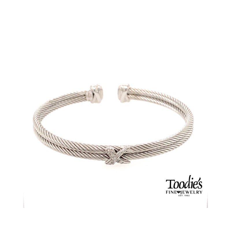 Phillip Gavriel Double Row Rope Cuff Bracelet