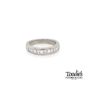 Princess Cut and Baguette Diamond Band