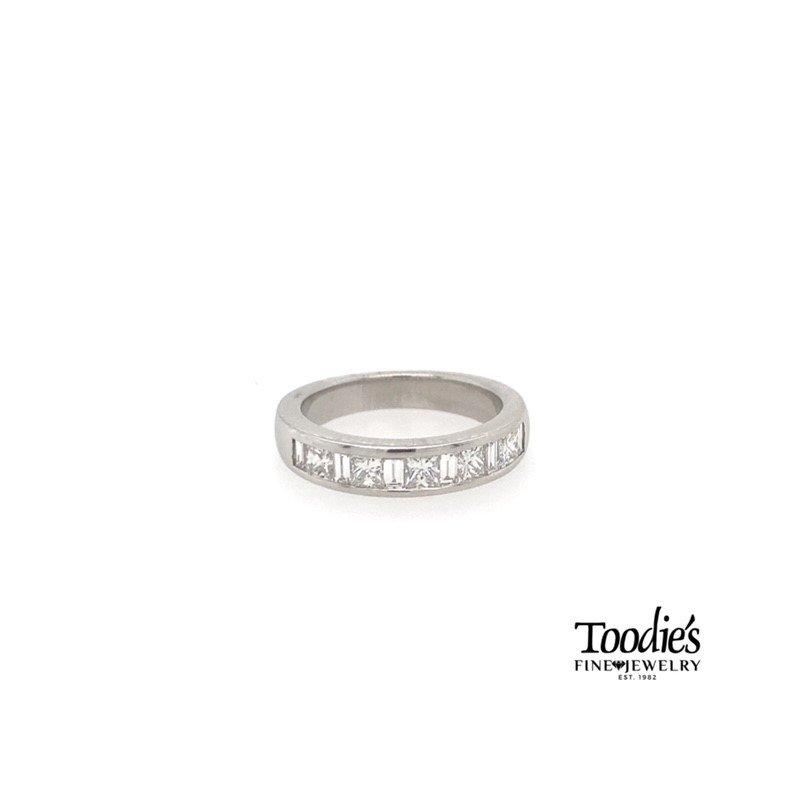 Toodie's Signature Fashion Princess Cut and Baguette Diamond Band