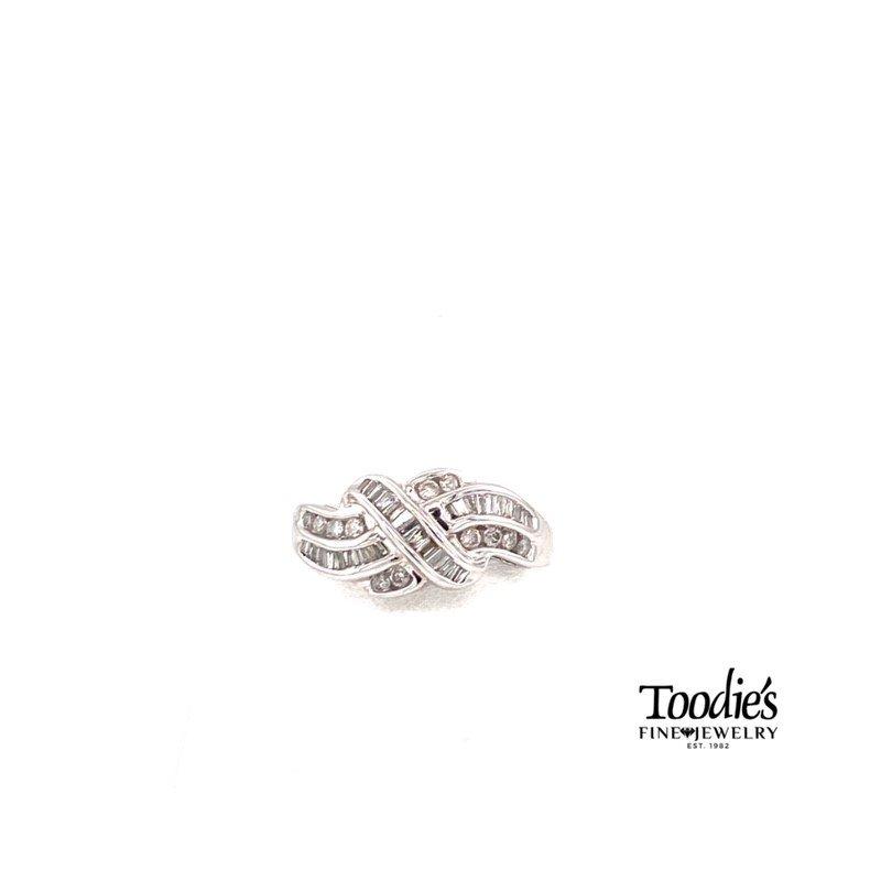 "Toodie's Signature Fashion Vintage Diamond Criss Cross ""Applesauce"" Cocktail Ring"