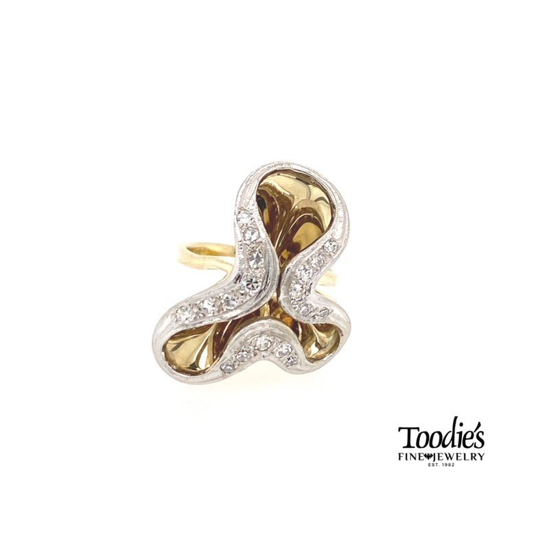 Toodie's Signature Fashion Art Deco Diamond Free Form Ring