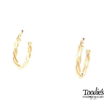 Twisted Style Hooped Earrings