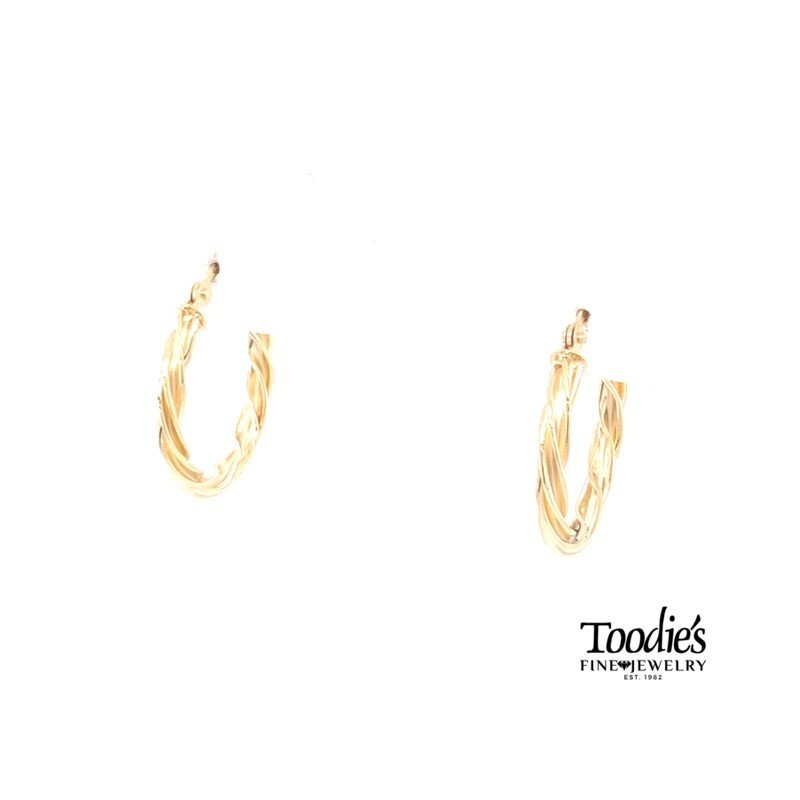 Toodie's Signature Fashion Twisted Style Hooped Earrings