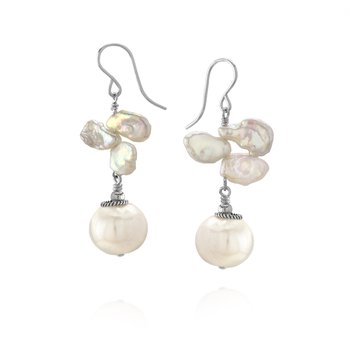Keshi Pearl Roping Drop Earrings