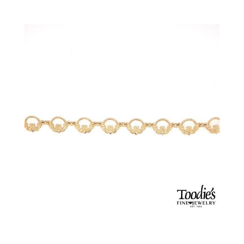 Toodie's Signature Fashion Yellow Gold Claddaugh Bracelet