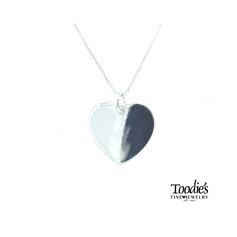 Toodie's Signature Fashion Engraveable Heart Disc and Chain