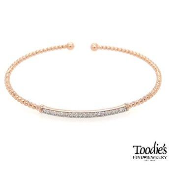 Rose Gold Diamond Bar Bracelet