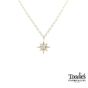 Nautical Star Diamond Solitaire Pendant