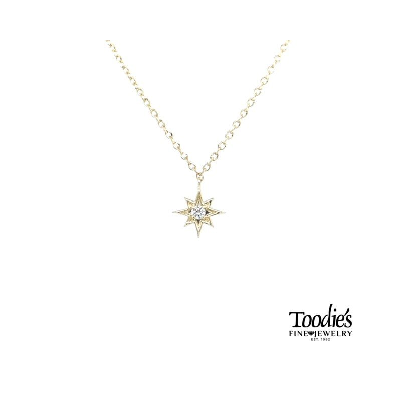 Toodie's Signature Fashion Nautical Star Diamond Solitaire Pendant