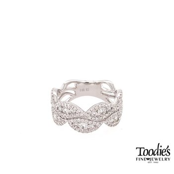 Diamond Double Wave Ring