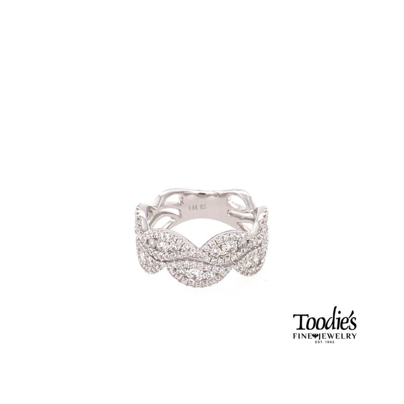 Toodie's Signature Fashion Diamond Double Wave Ring