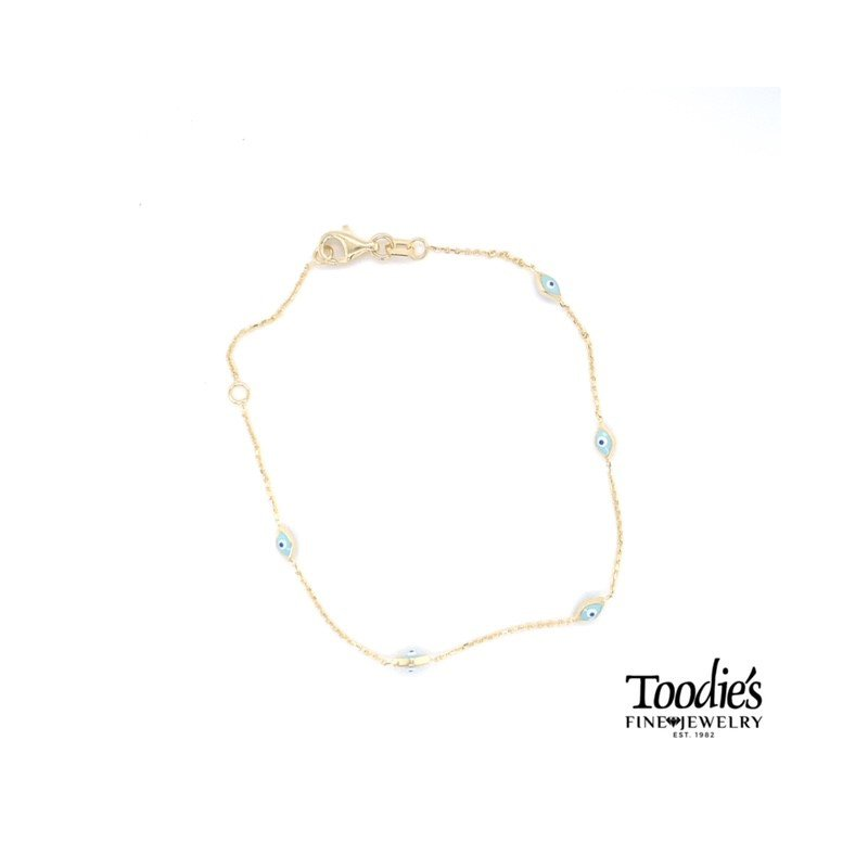 Toodie's Signature Fashion Blue Enamel Evil Eye Bracele