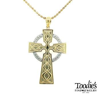 Celtic Cross on Beaded Style Chain