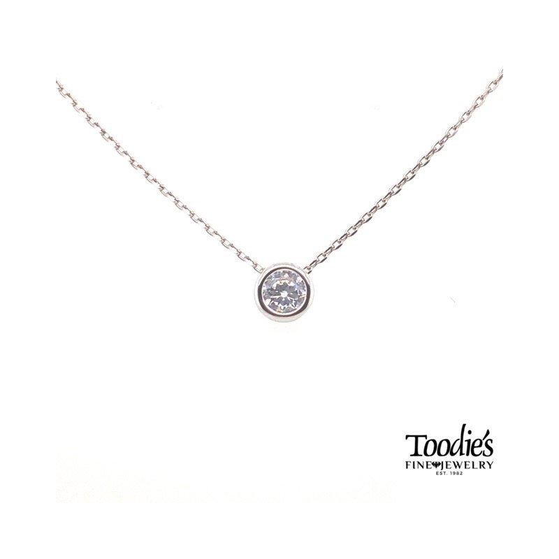 Toodie's Signature Fashion Cubic Zirconia Bezel Set Necklace