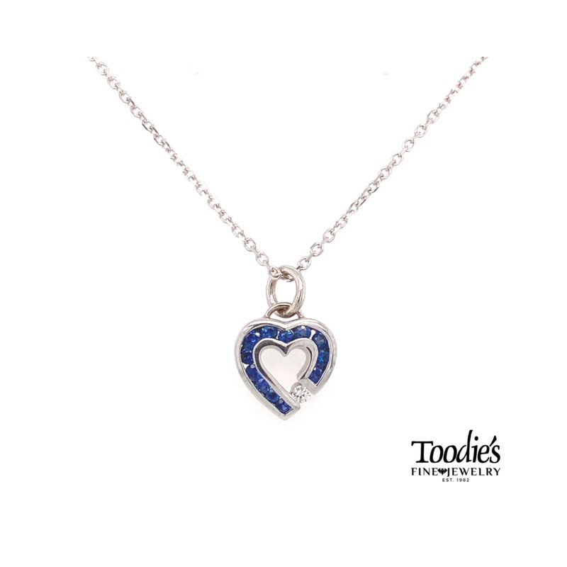 Toodie's Signature Fashion White Gold Sapphire And Diamond Necklace