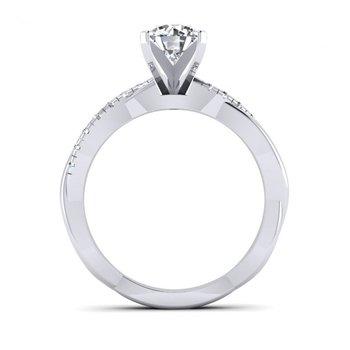 Twisted Diamond Design Engagement Ring