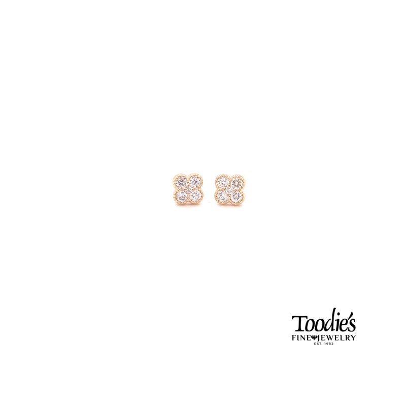 Toodie's Signature Fashion Mini Clover Studded Earrings