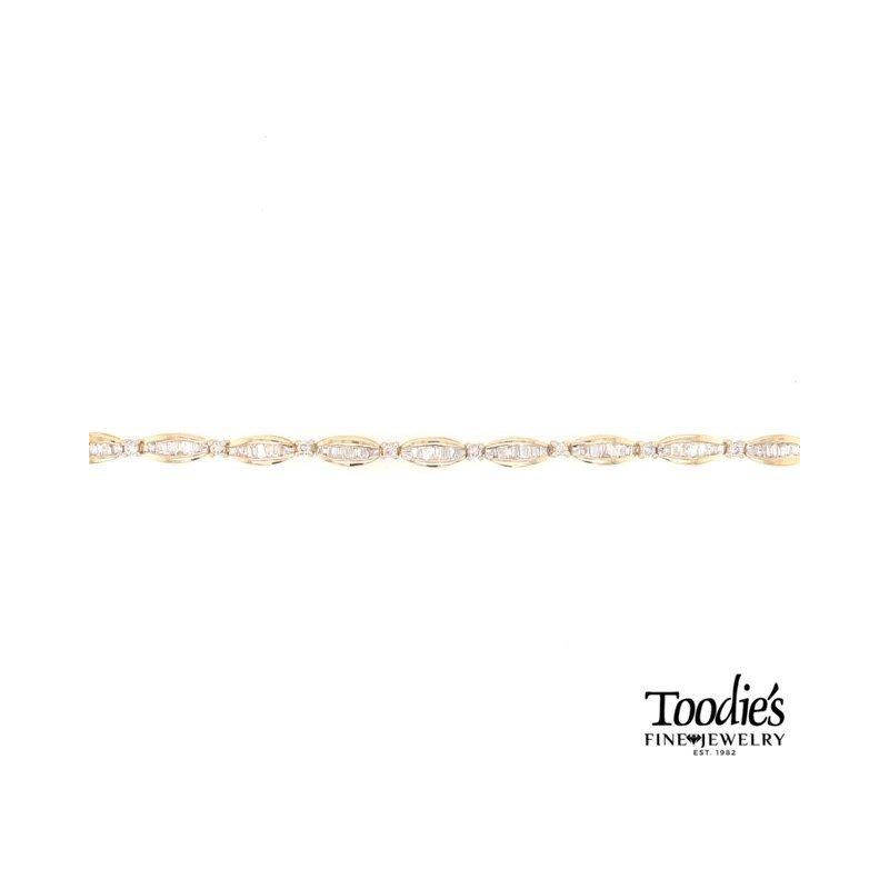 Toodie's Signature Fashion Diamond Baguette Tennis Bracelet