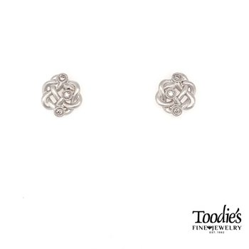 Twisted Knot Diamond Earrings
