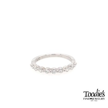 White Gold Single Prong Diamond Band