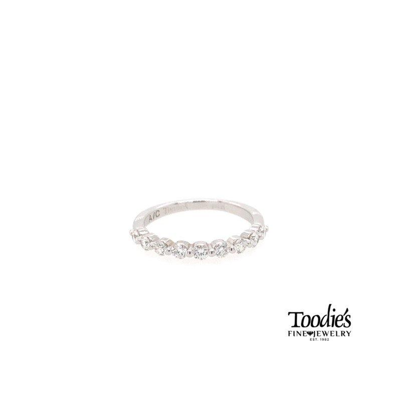 Toodie's Signature Fashion White Gold Single Prong Diamond Band