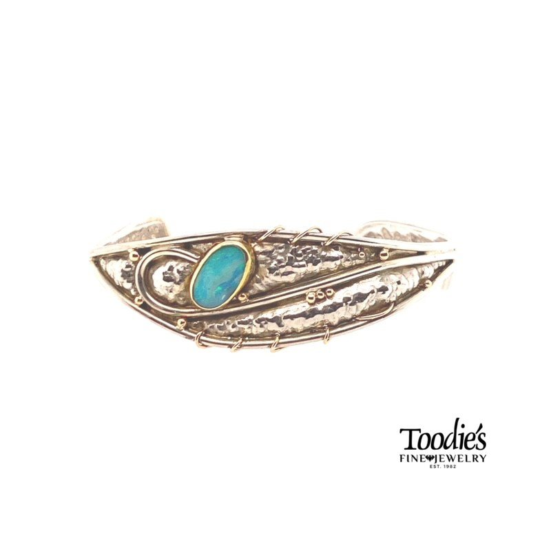 Toodie's Signature Fashion Vintage Native American Inspired Turquoise Bracelet
