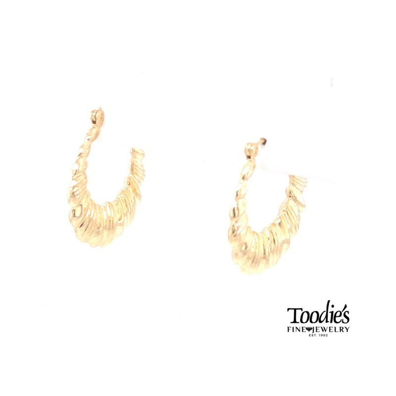 Toodie's Signature Fashion Rounded Textured Hoop Earrings