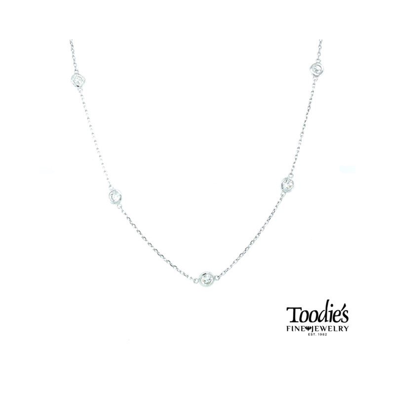 Toodie's Signature Fashion 1.30ct. Twt. Diamonds by the Yard Necklace