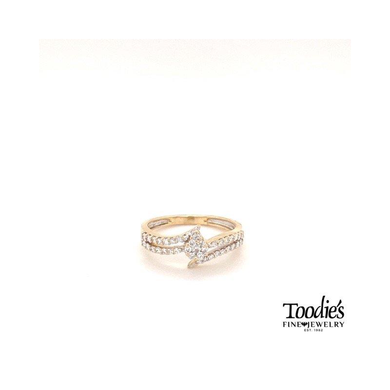 Toodie's Signature Fashion Diamond Bypass Ring