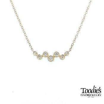 Zig Zag Diamond Bar Necklace