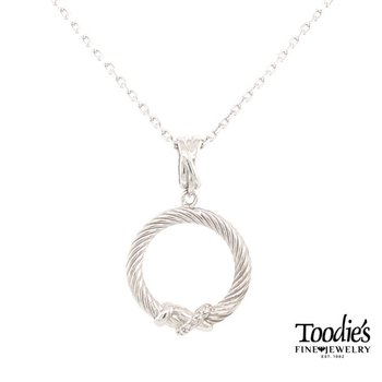 """X"" Style Diamond Pendant Necklace"