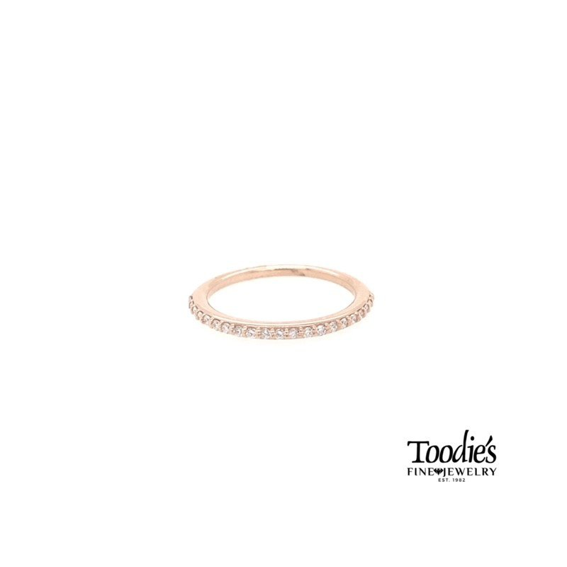 Toodie's Signature Fashion Rose Gold Shared Prong Style Band