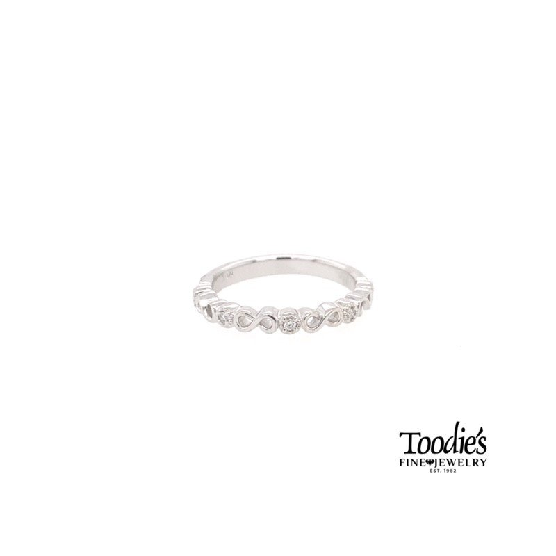 Toodie's Signature Fashion Infinity Design Diamond Stackable Band
