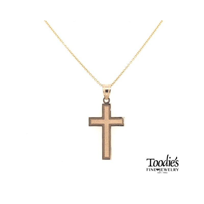 Phillip Gavriel Gold Polished Latin Cross Necklace