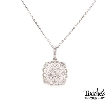 Diamond Vintage Filigree Style Pendant