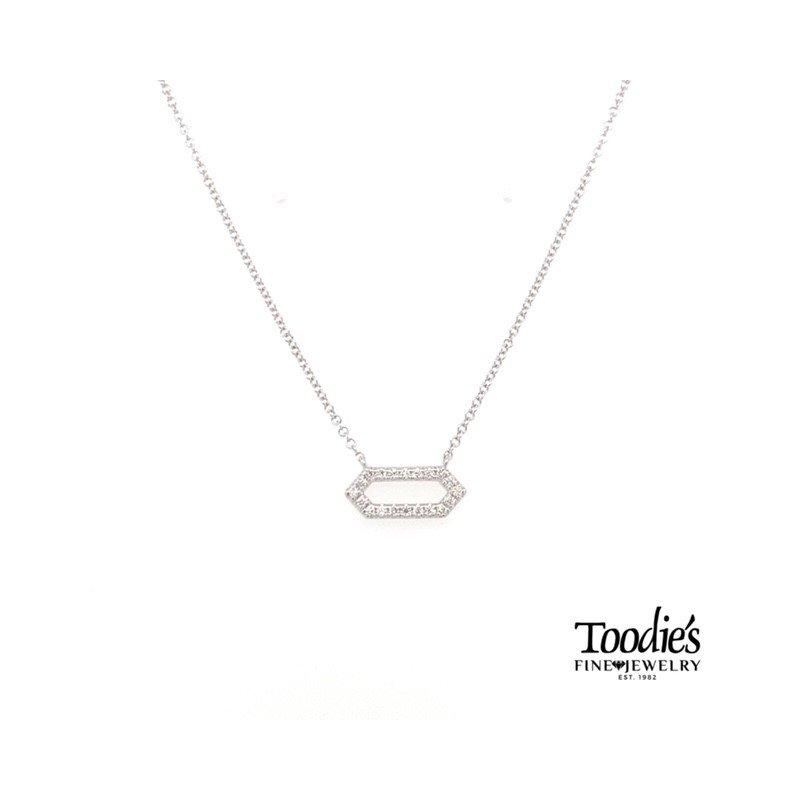 Gabriel Fashion Hexagonal Diamond Pendant
