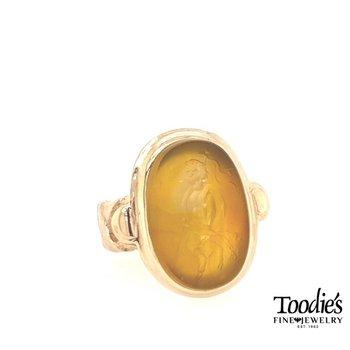 Vintage Large Carnelian Intaglio Ring