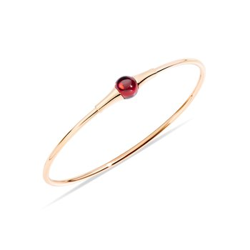 M'ama non m'ama 18k rose gold garnet bangle
