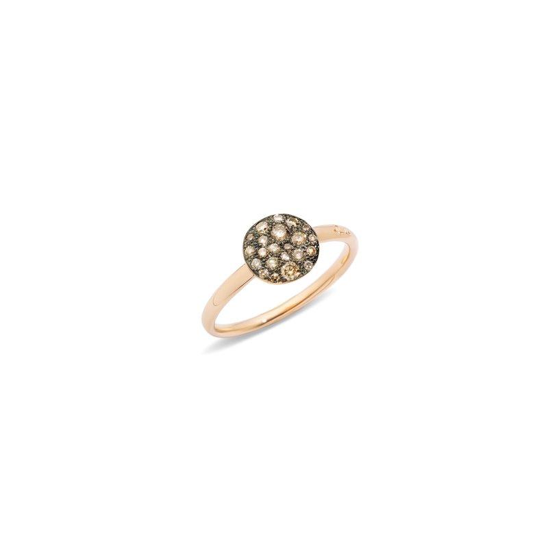 Pomellato Sabbia 18k rose gold brown diamond ring