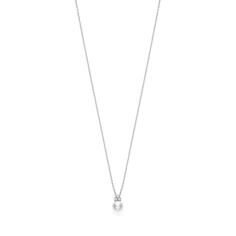 Mikimoto Akoya Pearl and Diamond Pendant