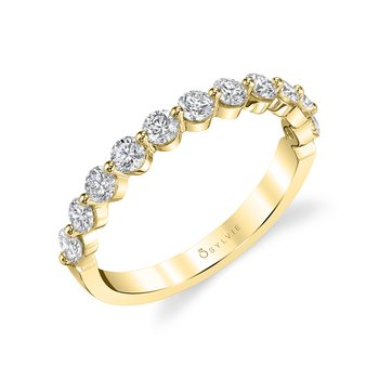 14k Gold Shared Prong Diamond Band