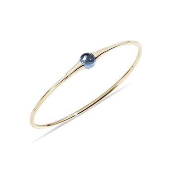 M'ama non m'ama 18k rose gold london topaz bangle