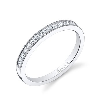 14k Gold Princess Cut Diamond Band